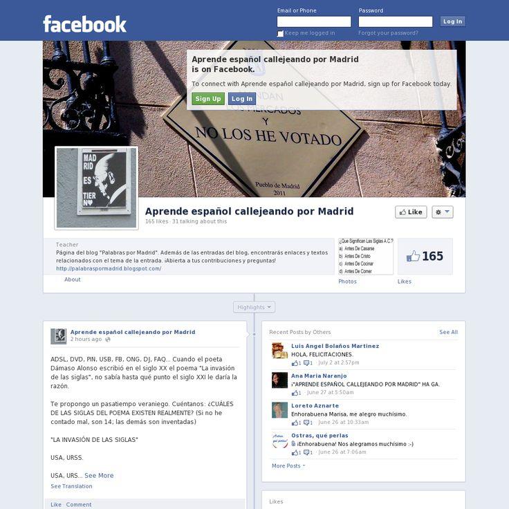 Página de Facebook del blog \