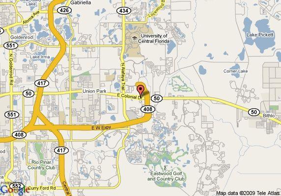 Florida Map Google Maps.Google Maps Orlando Florida Map Of Crossland Orlando University Of