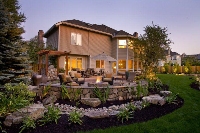 feuerstelle gartengestaltung vorgarten vorgartengestaltung, Hause und Garten