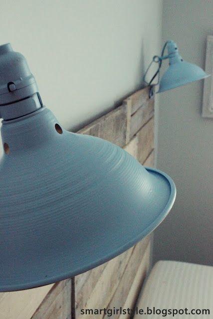 industrial diy bedroom lamps.  maybe in ivory.  #Anthropologie #PinToWin