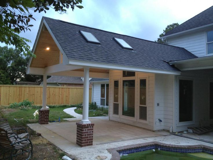 Patio covers with skylights pool katy tx before for Pool design katy tx