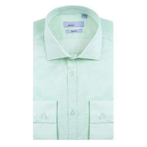 Chemise cintrée CRISTIANO anis | http://www.atelierprive.com/fr/nouveautes-mode-homme/3535-chemise-cintree-cristiano-anis.html