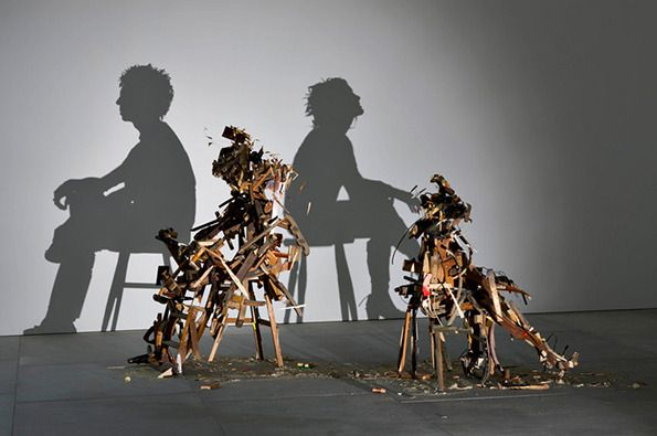 Brilliant silhouette sculptures by Tom Noble & Sue Webster @ London's Blain Southern Gallery (via It's Nice That)