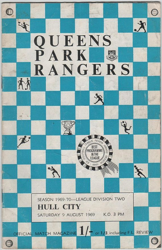 Vintage Football (soccer) Programme - Queens Park Rangers v Hull City, 1969/70 season #football #soccer