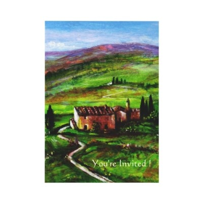 Another Tuscany invitation with a path...