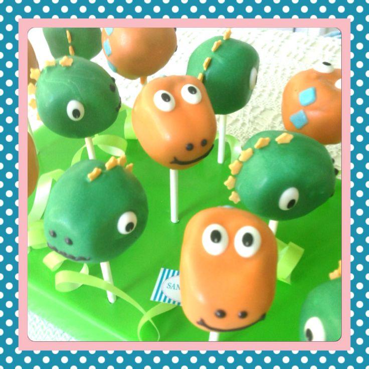 Vintage Dino Cake Pops by Sandybel sandybel cakepops dinosaurier f rth n rnberg