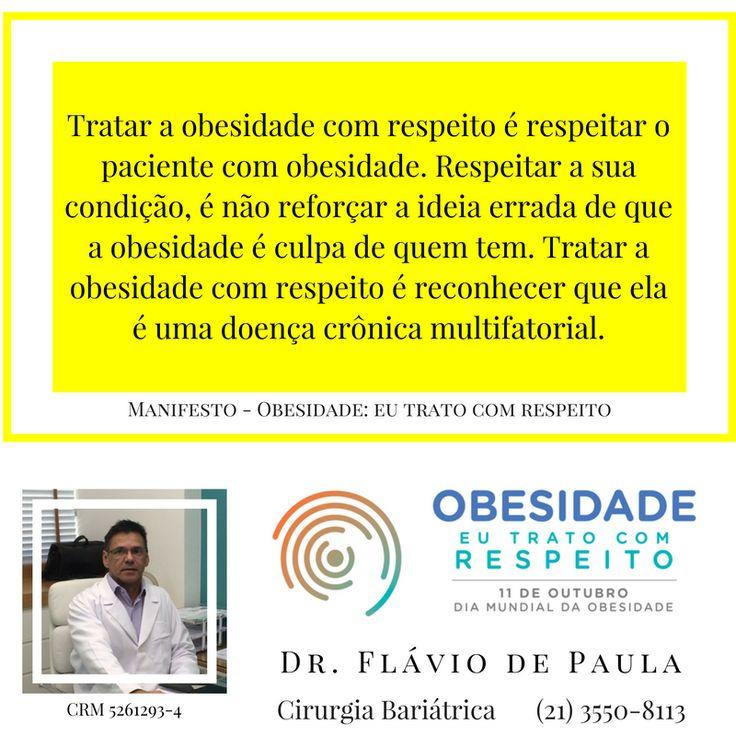 Tratar a obesidade com respeito é respeitar o paciente com obesidade. Respeitar a sua condição, é não reforçar a ideia errada de que a obesidade é culpa de quem tem. Tratar a obesidade com respeito é reconhecer que ela é uma doença crônica multifatorial.