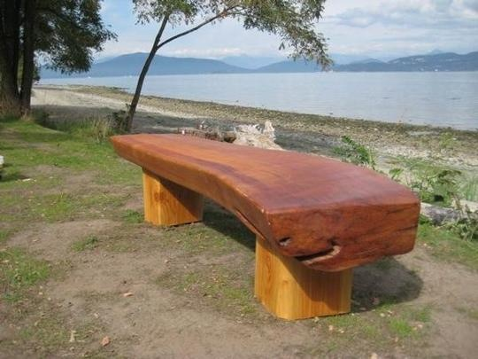 32 Best Slab Wood Benches Images On Pinterest Wood
