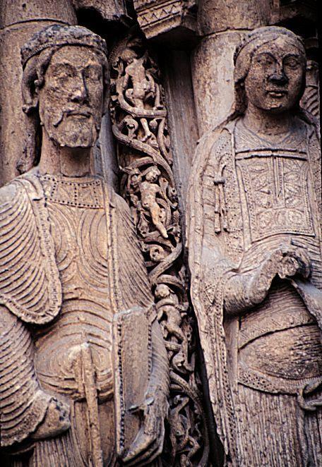 2 12th century statues