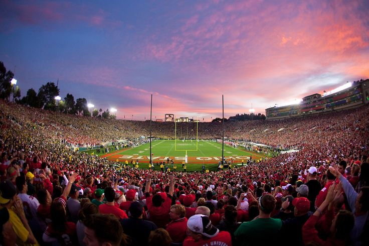 Jeff Lewis by DGReps  on 500px || Oregon Ducks fans and Ohio State Buckeyes fans enjoy the Buckeyes 27-16 victory over Oregon in the 2010 Rose Bowl Game in Pasadena, CA.