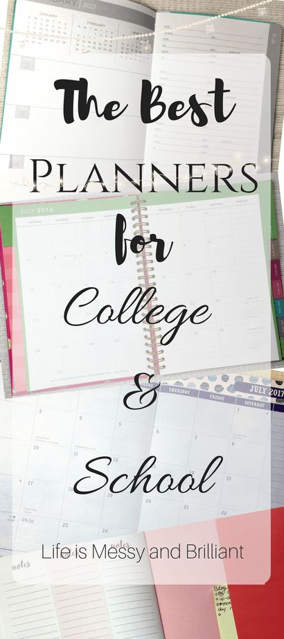 The Best Planners for College and School
