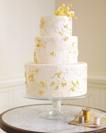 Delicate French Silk Wedding Cake