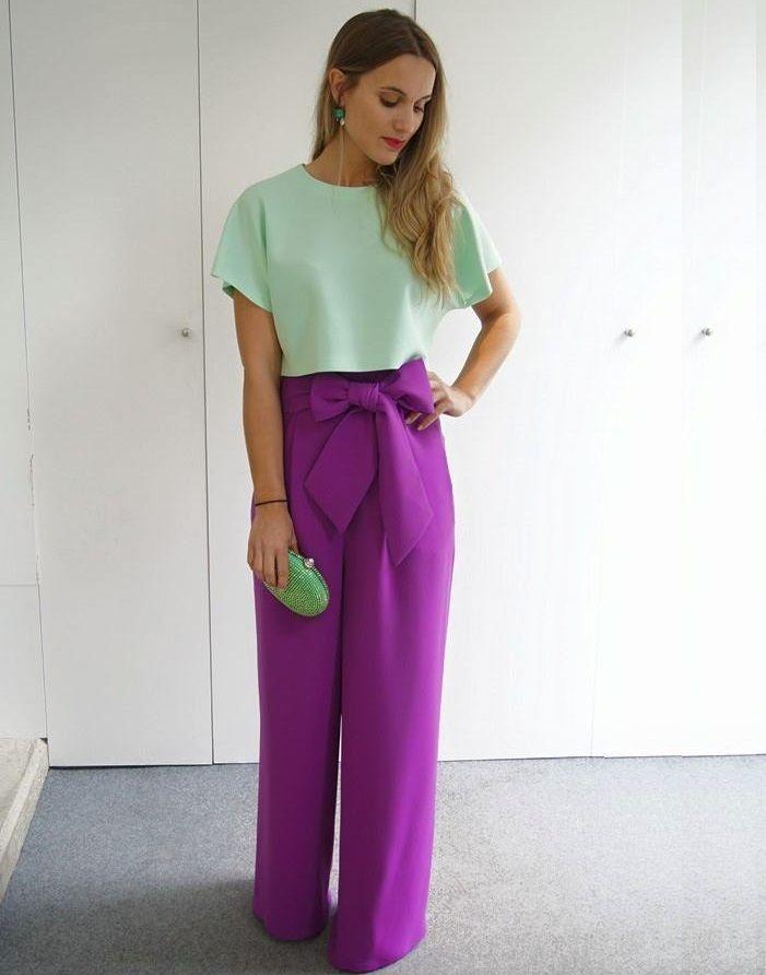 109 best pantalones palazzo images on Pinterest | Palazzo pants ...