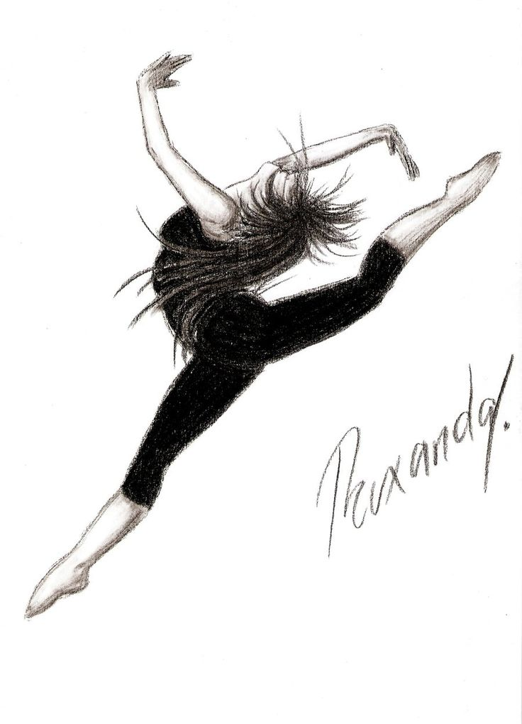 Drawing of dancer contemporary dance by maripossa17 on for Modern drawing styles