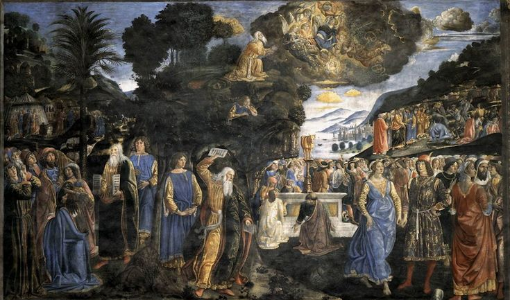Sistine Chapel Southern Wall - Moses with the Tables of the Law