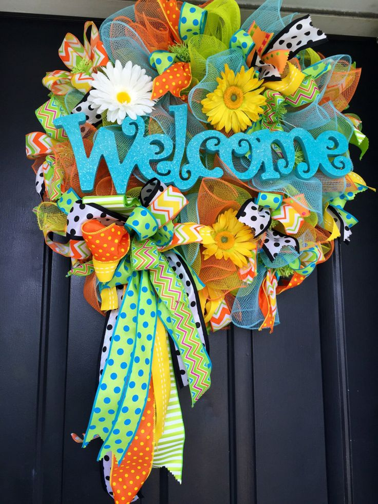 Best 25+ Mesh wreaths summer ideas on Pinterest | Holiday ...
