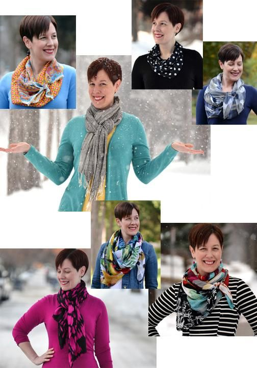 Tips on how to wear different styles of scarves