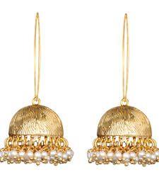 Buy Ethnic Indian Bollywood Jewelry Set Gold Finish Hoop Earrings hoop online