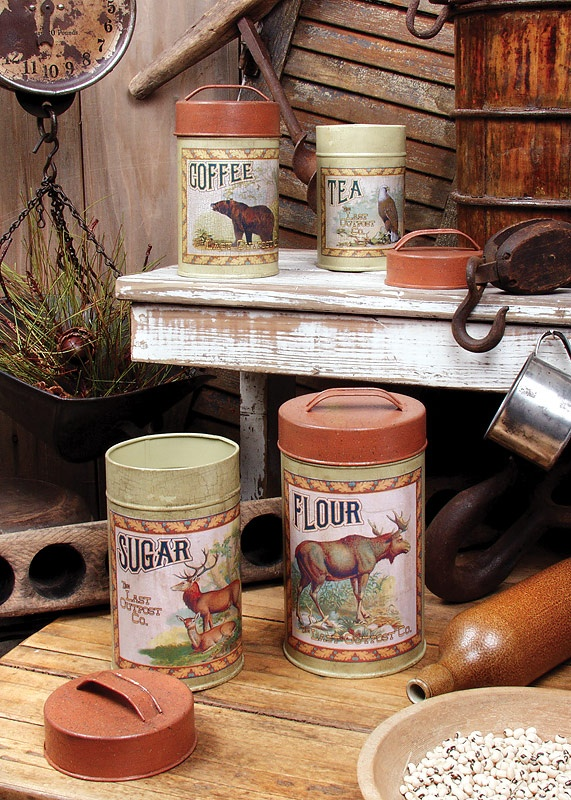 Cabin Kitchen Canisters Home Ideas In 2019 Rustic