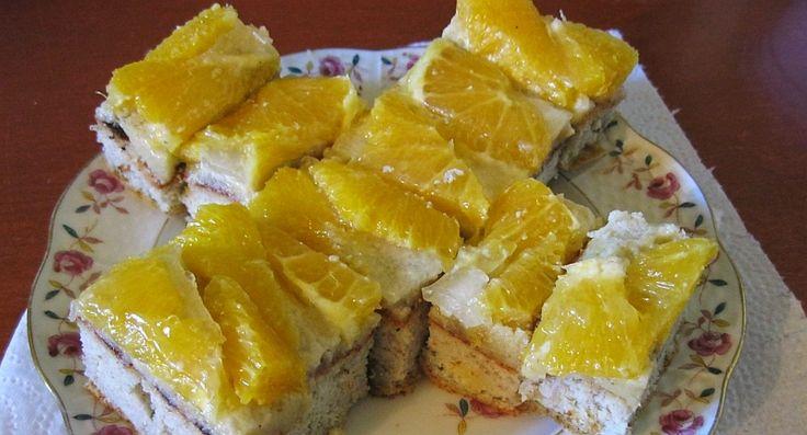 Narancstorta mandulakrémmel