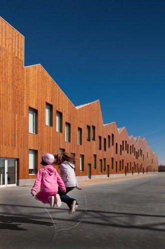 Mouriz School in Mouriz, Paredes, Portugal by Atelier Nuno Lacerda Lopes.