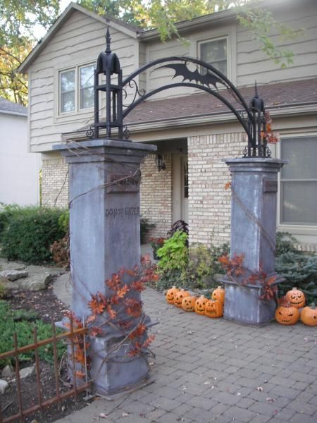 build in 3 parts keep columns under 6 feet it could then be stored in the - Cemetery Halloween Decorations