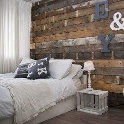 Sloophouten muur 'doe het zelf' pakket #sloophout #steigerhout #DIY