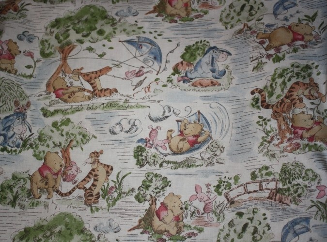 Classic Winnie The Pooh Fabric With Piglet Tigger And