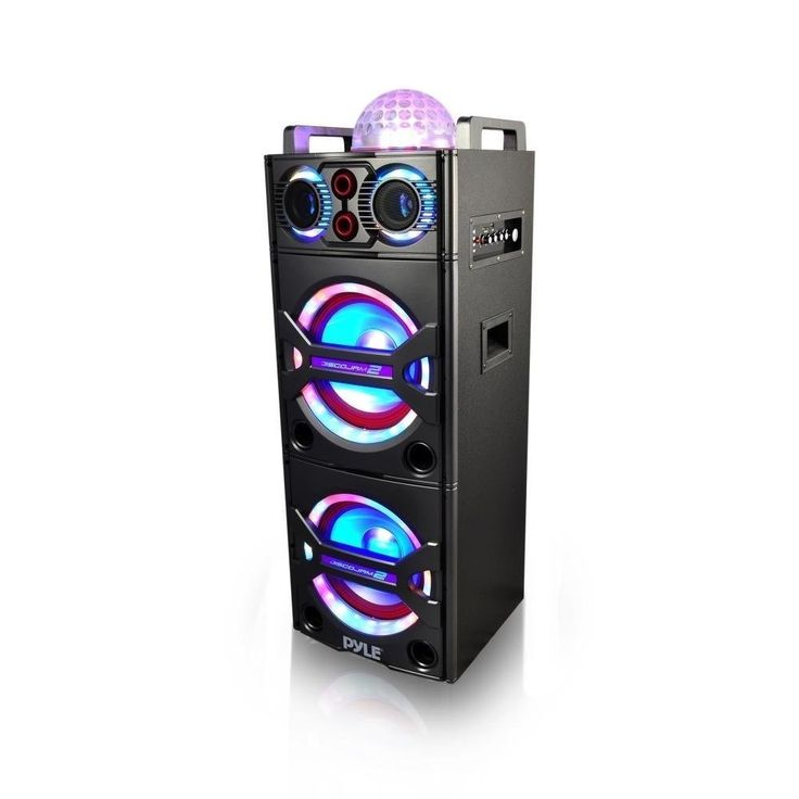 Pump up the party with the Pyle Karaoke Speaker Systems. Enjoy plenty of music streaming options that will add life to any occasion. The included wireless microphone makes it perfect for sing-along ka