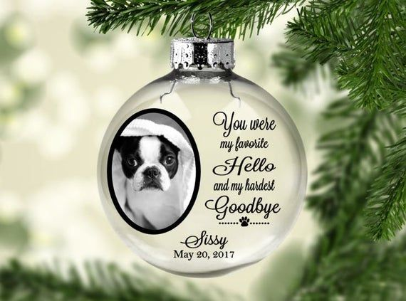 Memorial Gift for Loss of Dog or Cat PERSONALIZED PET Memorial Ornament Forever Loved Christmas Ornament Sympathy Gift for Loss of Pet