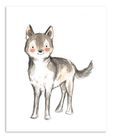 This Wolf Print by trafalgar's square is perfect! #zulilyfinds