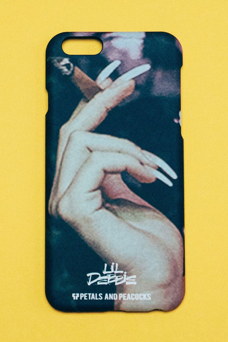 LIL DEBBIE FOR PETALS AND PEACOCKS (420 LIMITED EDITION COLLABORATION) Featuring a special release iPhone 6 Case from Lil Debbie for Petals. The full color print features an image of Lil Debbie's Hand