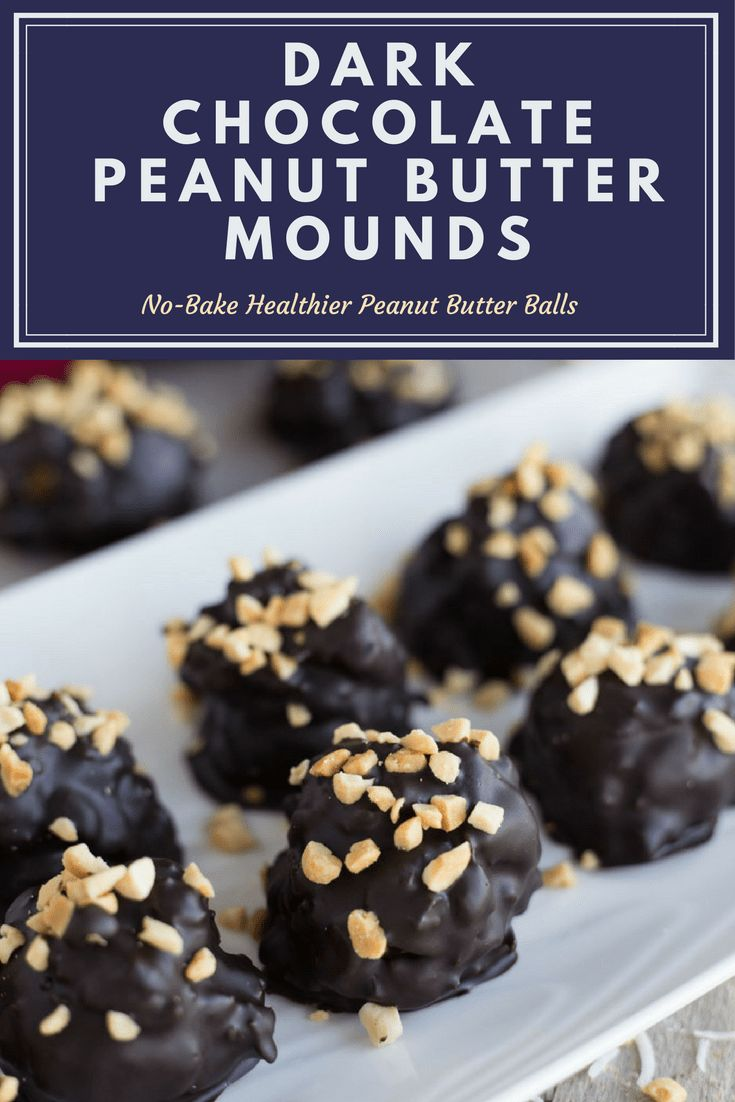 Dark Chocolate Peanut Butter Mounds