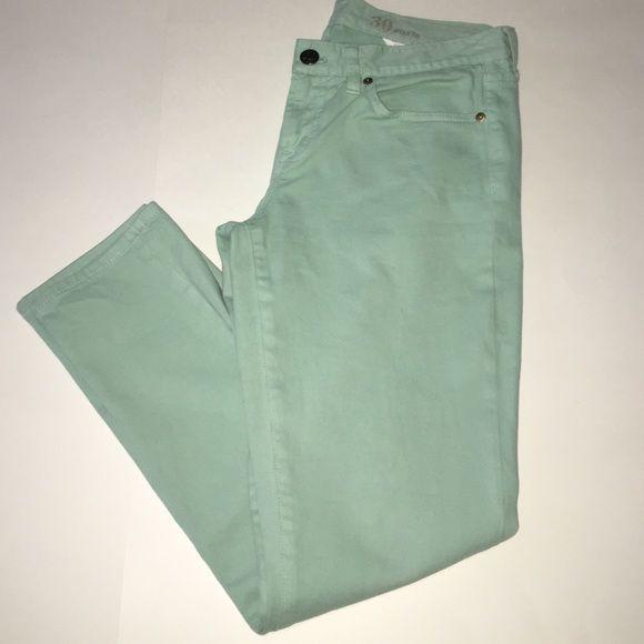 J Crew Toothpick Ankle Jean (size 30 J Crew mint green toothpick ankle jeans (size 30) like new, worn a few times J. Crew Jeans Skinny