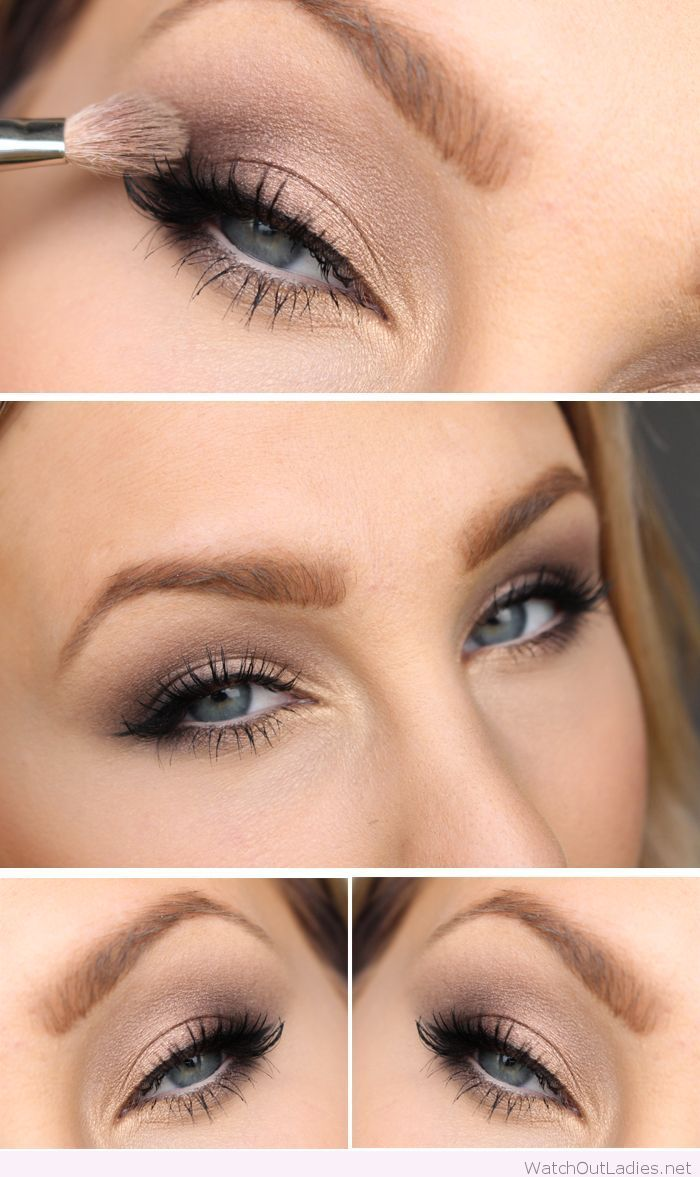 Gorgeous Natural Eye Makeup | Golden Shimmers | Blue Eyes