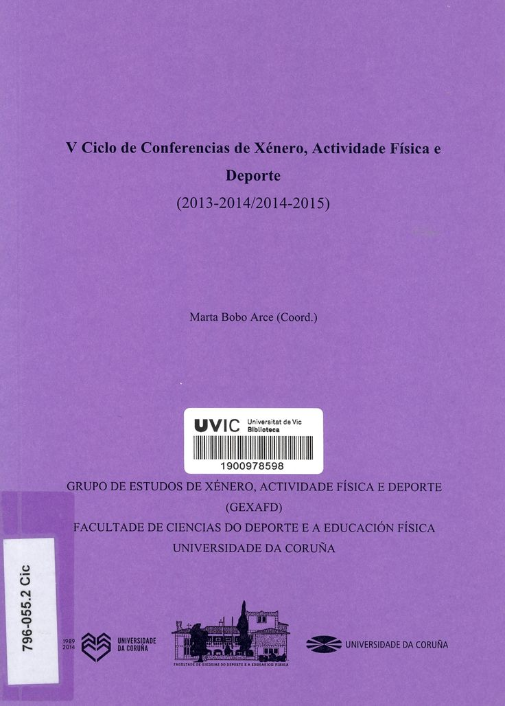 V Ciclo de conferencias : xénero, actividade física e deporte (2013-2014/2014-2015)