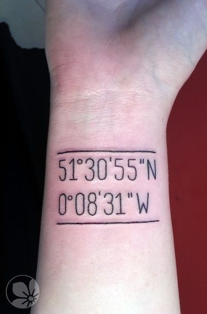 [www.tattoou.co.il :טאטו יו - כל מה שרצית לדעת על קעקועים] ---  #numbers #tattoo קעקוע כיתוב