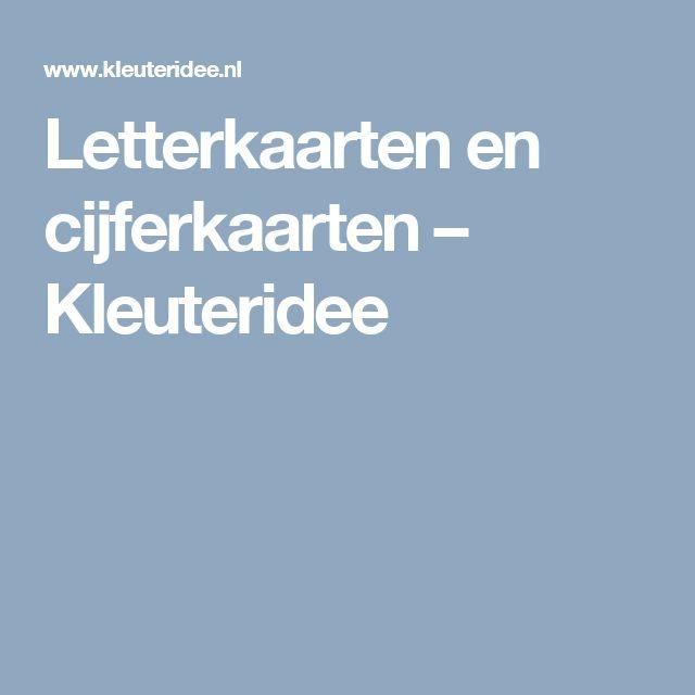Letterkaarten en cijferkaarten – Kleuteridee