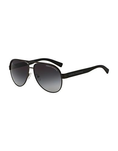 Armani Exchange Pilot Sunglasses Men's Black