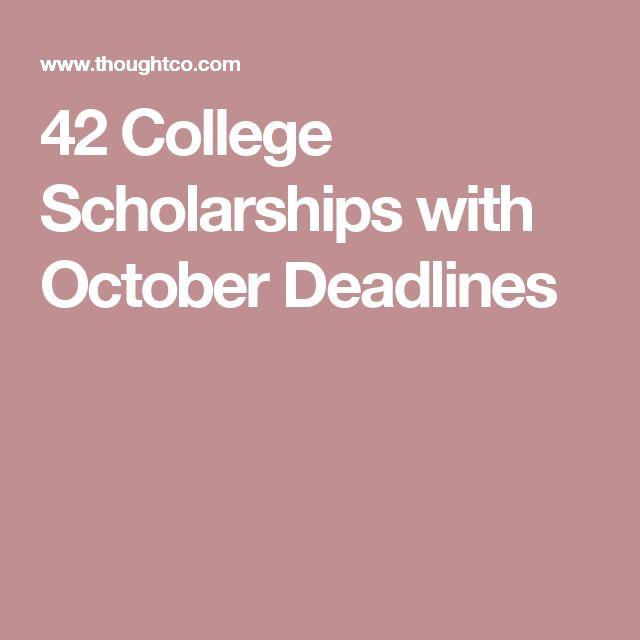 42 College Scholarships with October Deadlines
