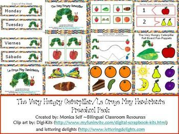 The Very Hungry Caterpillar/La   Oruga  Muy Hambrienta Pre