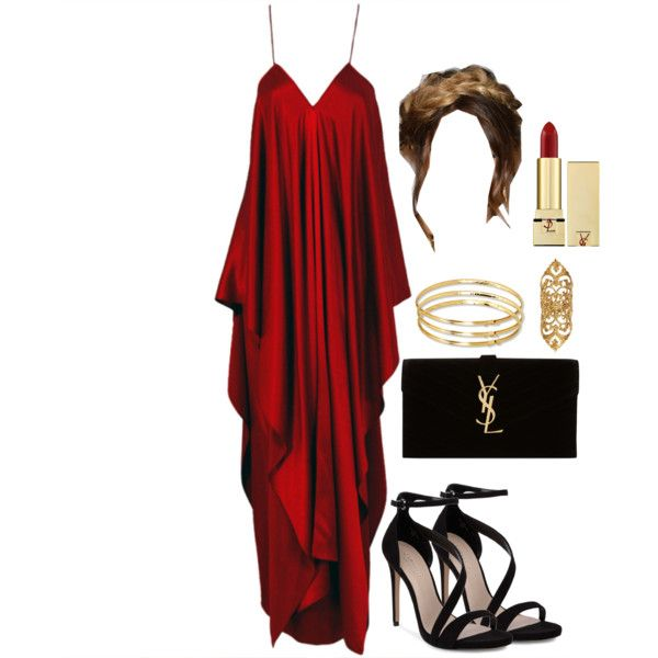 A fashion look from November 2014 featuring Yves Saint Laurent gowns, Carvela sandals and Yves Saint Laurent clutches. Browse and shop related looks.