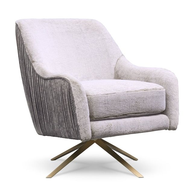 Margot Swivel Chair Gray American Signature Furniture White Furniture Living Room Furniture Value City Furniture