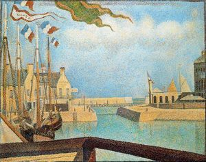 Sunday at Port en Bessin - (Georges Pierre Seurat)