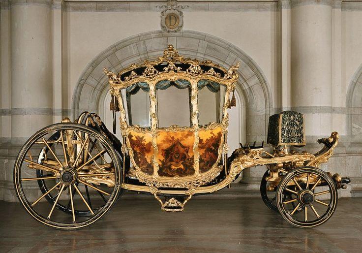 Príncipe Carriage do rei Gustavo III da Suécia 1763 a 1768. Crédito Livrustkammaren (The Royal Armoury, Suécia)