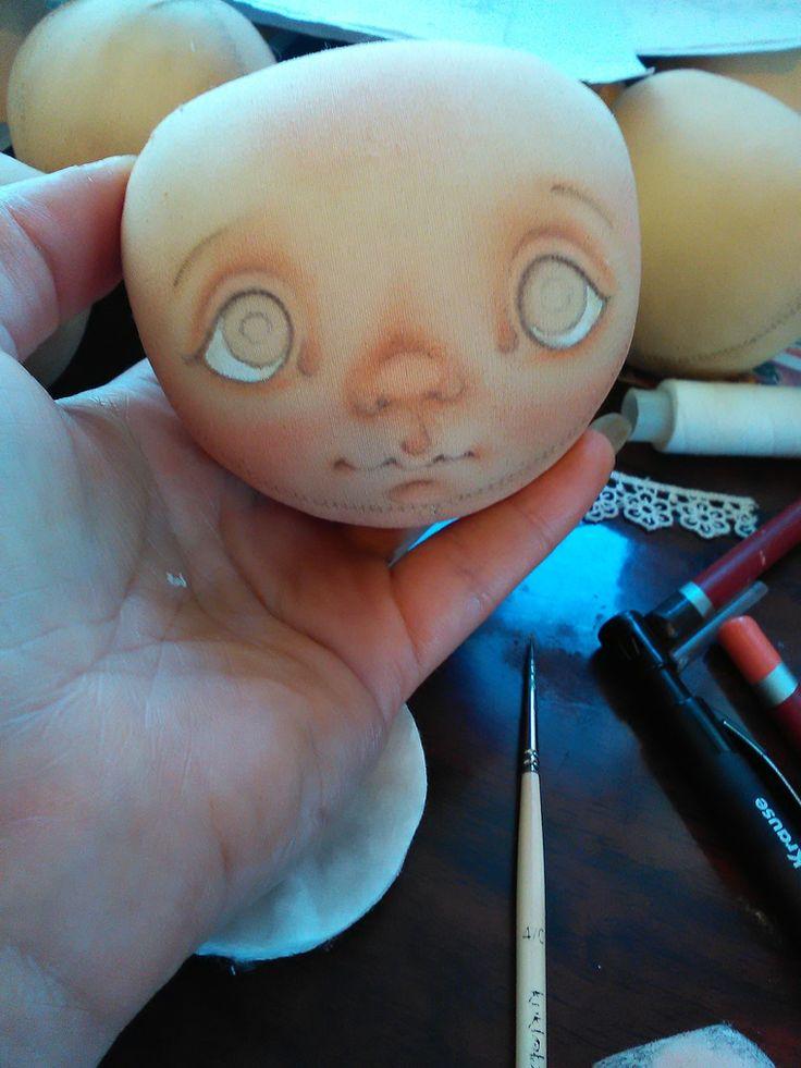 Роспись лица текстильной куклы: 1000 и первый способ - Ярмарка Мастеров - ручная…