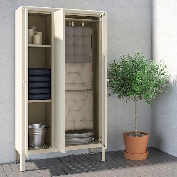 Kolbjorn Cabinet Indoor Outdoor Beige 35x63 Ikea Ikea Outdoor Outdoor Storage Cabinet Outdoor Cabinet