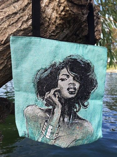Melody Woven Tote Bag by DDBProductions on Etsy