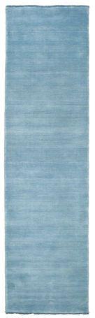 Handloom fringes - Ljusblå matta 80x300