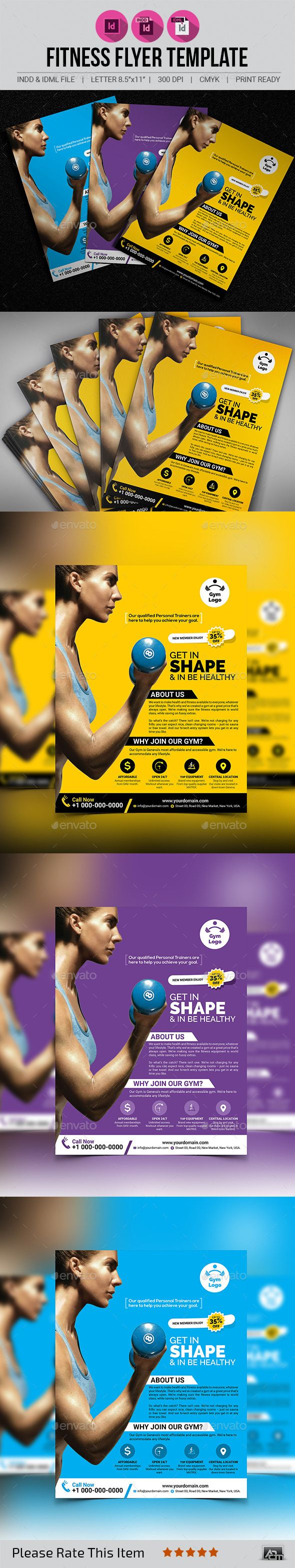Fitness / Gym Flyer V5 - Corporate Flyers